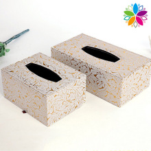 Fashion Rectangle PU Tissue Box (ZJH058)