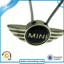 Insignia de metal estampada con logotipo Epoxy de ala publicitaria