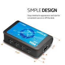 Carregador de Viagem Universal 4-Port USB Charging Station