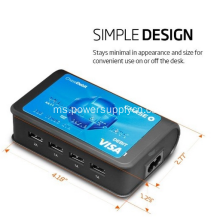 Universal Travel Charger 4-Port USB Mengecas Stesen