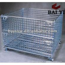 Zusammenklappbarer Warehouse Storage Wire Container