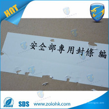 Destructible Label,Fragile Paper Sticker,Destructible Vinyl Self Adhesive label