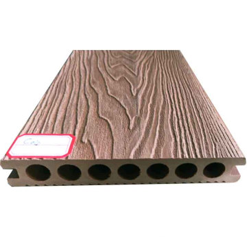 cheap hollow /solid 3d embossing anti-slip  wpc  composite decking  for outdoor