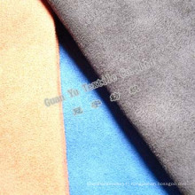 Velours de Polyester gaufré Suede canapé tissu (G69-16)