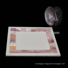 Pink shell Mosaic crafts Home soap dish