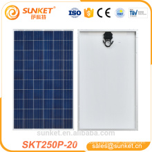 home use tops poly solar panel 250w with TUV CE ISO certificates