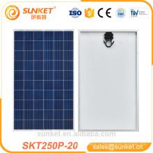 250вт хорошие качества панели солнечных батарей с TUV ИСО CE сертификации