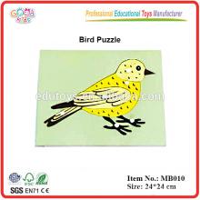 Montessori Tier Puzzle - Vogel