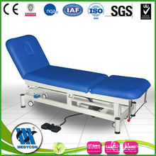 Three section patient trolley electric massage table electric examination couch