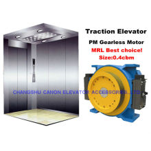 Máquina de tracción de ascensores Gearless síncronos de imán permanente