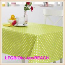 PVC-Tischdecke mit Flanell-Unterstützung für Bankett