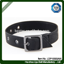 PU Dog Chain Black Straps Pet