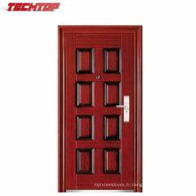 Porte extérieure en acier de sécurité principale en métal de sécurité TPS-066
