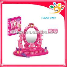 Mädchen Plastic Pretend Dresser Fancy Schönheit Make-up Spiel Set Spielzeug mit Licht und Musik