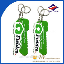 Personalized Soft Rubber Keychain Business Cards Holder