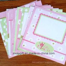 Bebê, menina, cor-de-rosa, desenho, 12 x 12, scrapbooking, papel, pacote