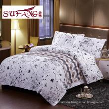 5star High Quality Hotel Bedding Linen Supplier 100 cotton print bedding sets 60s 300TC