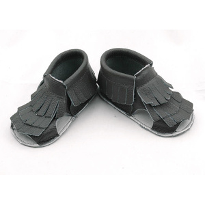 Atacado Genuine Leather Baby Tassels Flip Flops