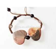 Bracelete de coração artesanal Gemstone Heart 2