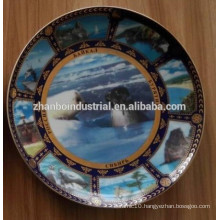 Decorative porcelain plate , ceramic plate , tableware