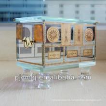 La moda diseñó la caja cristalina del jewllery para los favores y la decoración del regalo de boda