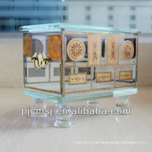 Fashion designed crystal jewllery box for wedding gift favors and decoration