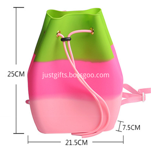 Promotional Candy Colors Silicone Backpack Bag for Kids4