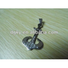 Stahl Kristall Anchor Anhänger Charms Piercing