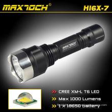 Maxtoch HI6X-7 táctico Cree T6 recargable linterna LED