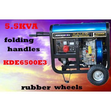 3kw 5kw 6kw petit groupe générateur portable d'air frais générateur diesel 5kVA