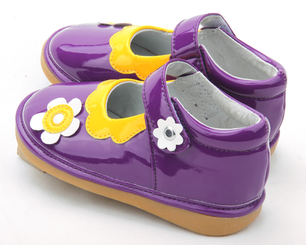 Fashion Purple Baby Squeaky Shoes Kids Musical Shoes