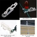 Christmas Light Socket Clip Transparent Plastic