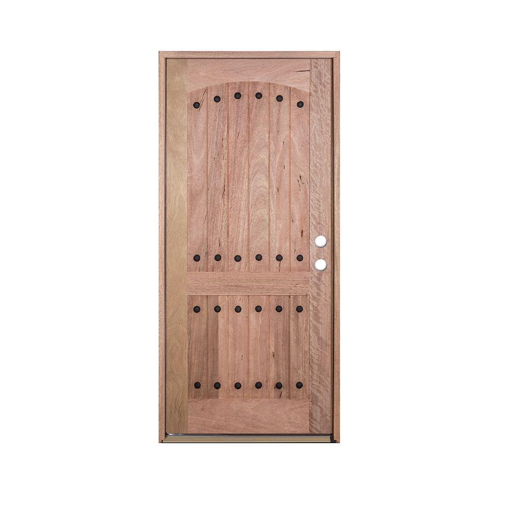 Hemlock Prehung Front Wood Glass Door