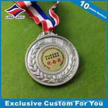 Medalla bordada personalizada medallas baratas con cintas medalla