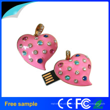 Necklace&Pendant OEM Lovely Gift Jewelry Heart Shape USB Flash Dive