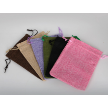 Customized colorful jute bag with cotton cord