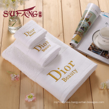 Platinum satin towel 100% cotton towel hotel towel Embroidery towel customized towel