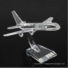 Cadeaux de décoration d'affaires K9 Crystal Plane Model