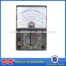 Multimètre analogique de multimètre analogique de multimètre, mètre portatif actuel de mètre de tension AM-36