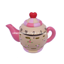 Tea Pot Decor Mechanical Kitchen Timer, Countdown Digital Timer