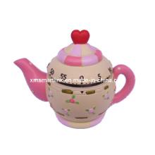 Tea Pot Decor Temporizador de cozinha mecânica, Temporizador digital de contagem decrescente