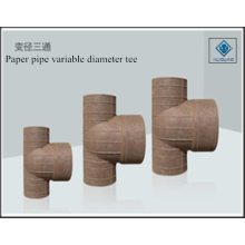 Paper pipe variable diameter tee