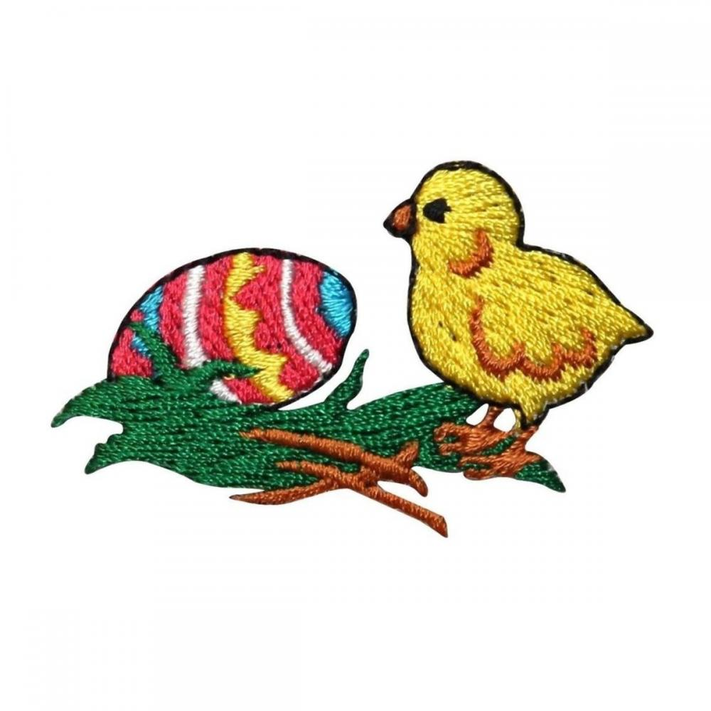 Easter Egg Baby Chicken Chicklet Embroidered Patch