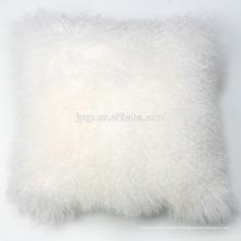 Coussin mongol en peau de mouton