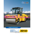 14 tan XD143 double drum tandem roller vibratory