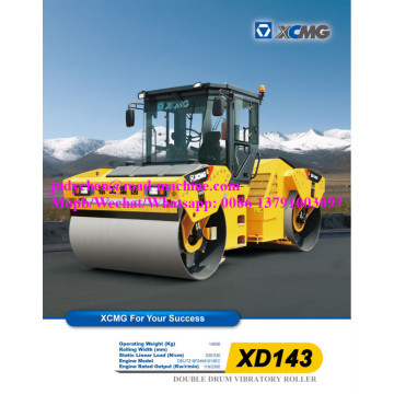 14 ton XD143 double drum tandem vibratory roller