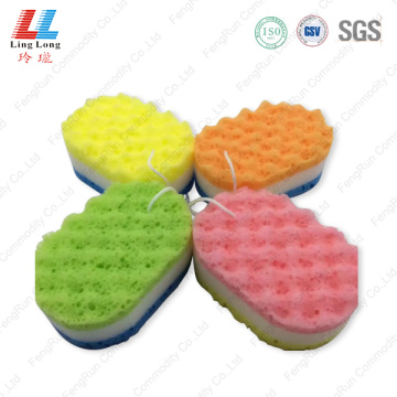 Multilayer colored sponge bath item