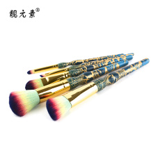 Green Marble Handle Cosmetic Brush