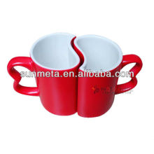 11oz couple sublimation red Mug lovers mug