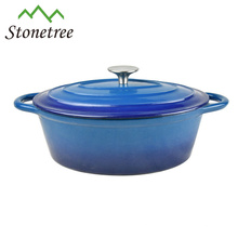 Blue Enamel Cast Iron Thermal Casserole Hot Pot / Kitchenware / Cookware